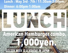 ★Golden Week Burger Lunch.