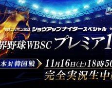 世界野球WBSC観戦!